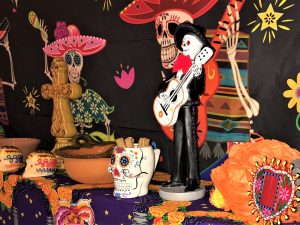 Elements of Dia de los Muertos display