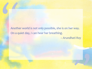 Quote from Arundhati Roy