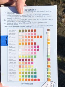 Water PH testing directions