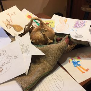 Grade 3 signs and cards for onion display